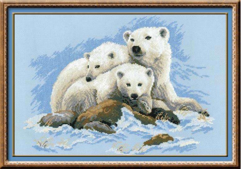 Схемы вышивки с белыми медведями