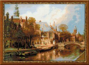 1189-Amsterdam.-Staraya-cerkov-i-Cerkov-sv.-Nikolaya-Chydotvorca-po-motivam-kartini-I.-Klinkenberga
