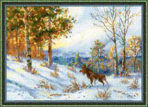 1528-Los-v-zimnem-lesy-po-motivam-kartini-V.L.Myraveva