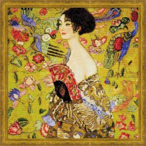 1226-Dama-s-veerom-po-motivam-kartini-G.Klimta