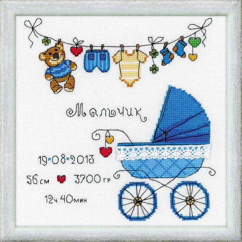 Вышивки для новорожденных метрики 22
