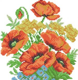 Рисунок на шелке для вышивания бисером
