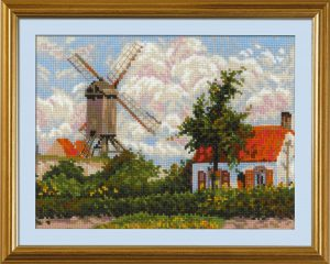 1702-Vetryanaya-melnica-v-Knoke-po-motivam-kartini-K.Pissarro