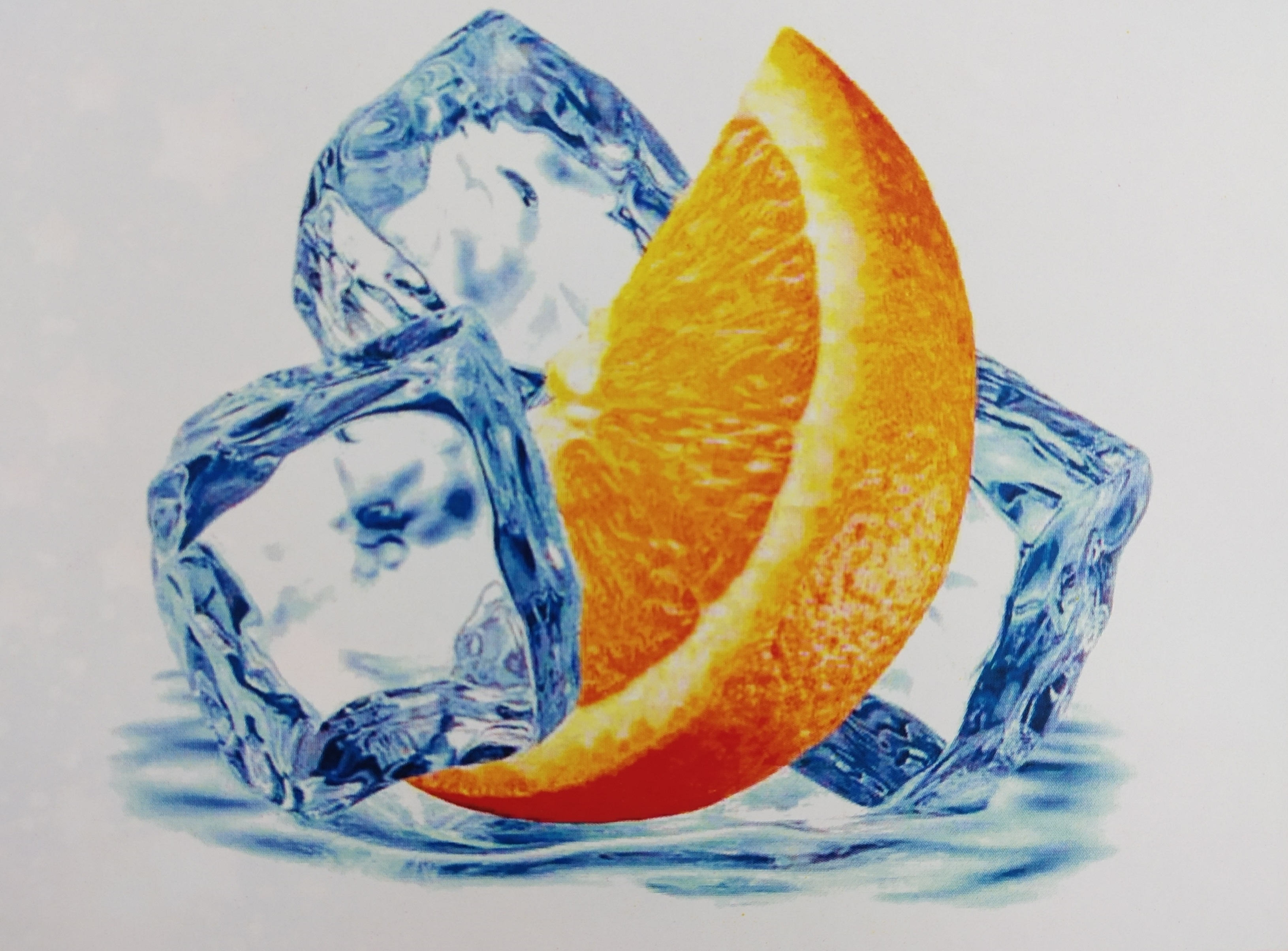 хочу апельсин и лед мир фотообоев готовила его