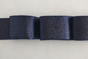 Лента атласная с люрексом, ширина 40 мм.