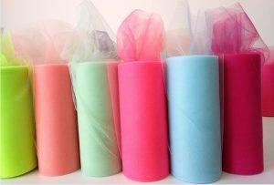Фатин в шпульках цветной