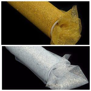 Фатин золото/серебро