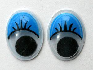 Глаза клеевые овальные