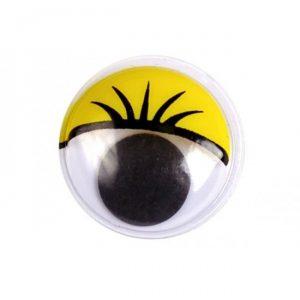Глаза клеевые круглые