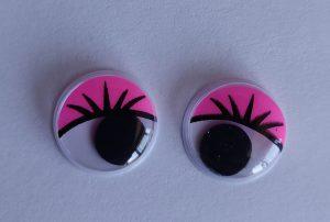 Глаза клеевые круглые 15 мм