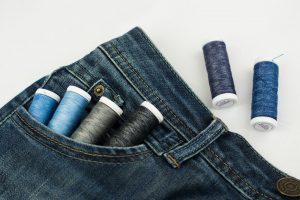 Нитки для отделки джинсовых изделий