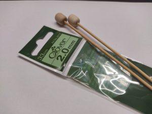Спицы прямые бамбуковые Clover (Япония)