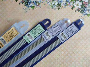 Спицы GAMMA чулочные металлические с покрытием, 35 см. (KN-35)